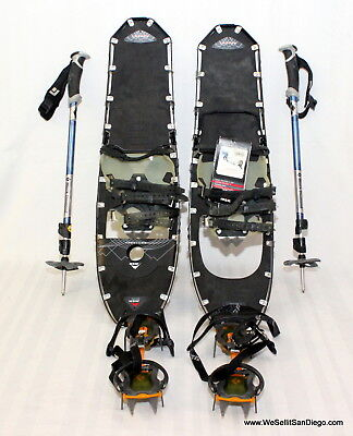 "NEW MSR Lightning Ascent Snowshoes 30"" black diamond expedition, crampons bundle"