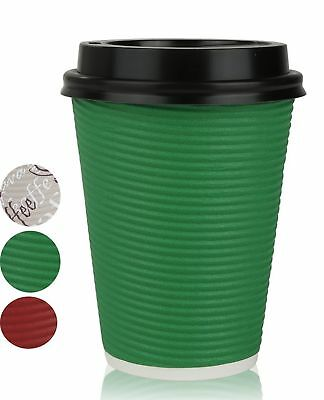 Disposable Hot Coffee Insulated Cups By Golden Spoon – 50 Pack Set Complete W...