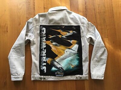 Custom Star Wars Naboo Starfighter Light Grey Jacket L One Of A Kind Unique Rare