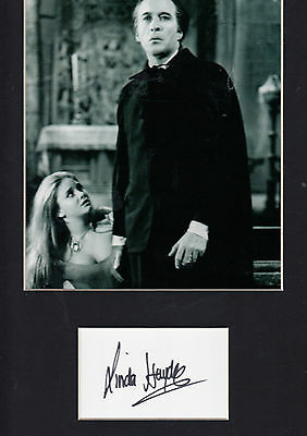 Linda Hayden HAND Signed 14x11 Display BLACK AND WHITE PHOTOGRAPH