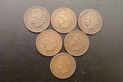 Indian Penny's 6x1 1901-1905