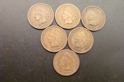 Indian Penny's 6x1 1903-1907