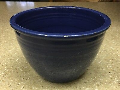 Antique Vintage Cobalt Blue #2 Nesting Bowl Inside Rings Chippy Edge