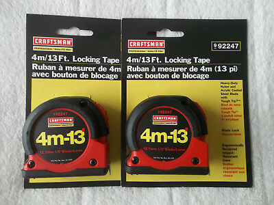 NEW CRAFTSMAN 4m/13' LOCKING TAPE X4.