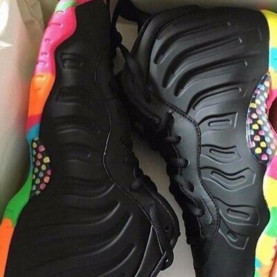 ed94aeb188e NIKE LITTLE POSITE One Black Fruity Pebbles Cereal Sz 4Y-7Y Ds Gs ...