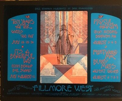 Bg 245 Double Size Fillmore Poster Ten Years After Fleetwood Mac 1970 Singer