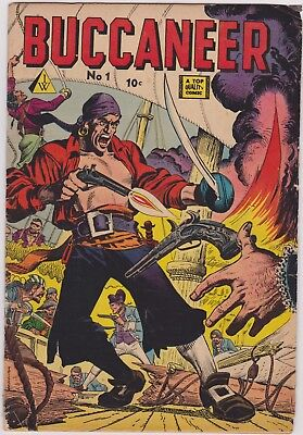 BUCCANEERS no.20. Quality Comics 1950. Reed Crandall. IW Reprint no.1 from 1958