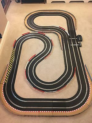 Scalextric Sport Layout & 2 Cars, Fully Bordered & Barrierd