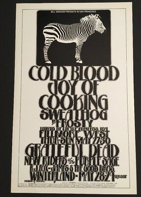 Bg 282 Fillmore Poster Grateful Dead Cold Blood NRPS 1971 Randy Tuten