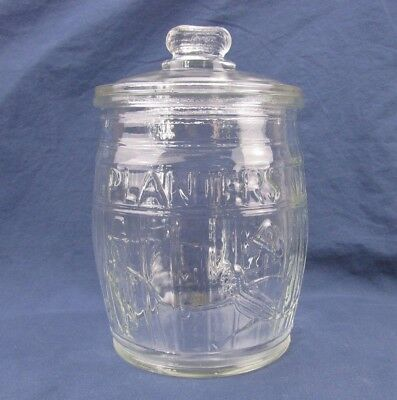 "Planters Peanut Jar with a Peanut Handle Lid - 10.5""H"
