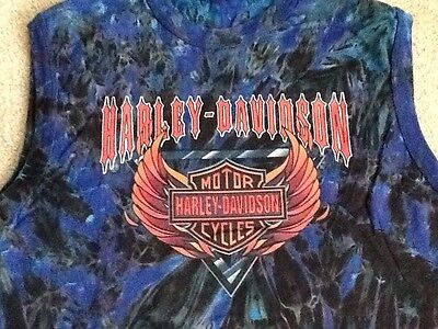 Harley Davidson Vintage Tie Dye Style Sleeveless Shirt Nwt Men's Medium