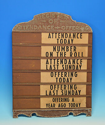 Antique Church Metal Attendance Sign From Old Church Swoope Va Virginia