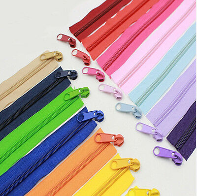 20Meters #5 Nylon Coil  Long Zippers 22 Colors Option For Sewing Work