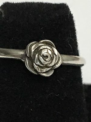 Sterling Silver,Rose Ring,size 6 1.4 Grams Perfect For Spring And Summer.