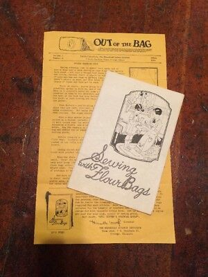 Antique Out Of The Bag Sewing With Flour Bags Newsletter And Booklet Rare