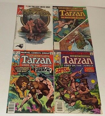 Marvel Tarzan comic lot of 4!! Issues 1, 12, 14, and 24