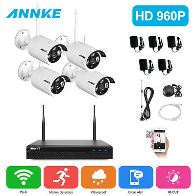 ANNKE 4CH 1080P Special NVR Network WIFI 960P 2500TVL Security IP Cameras System