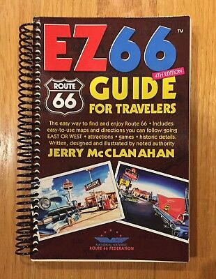 Book EZ66 ROUTE 66 GUIDE for TRAVELERS w/ Maps & Directions, 4th Edition, 2015