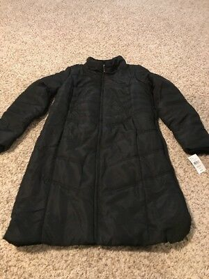 NWT Oh Baby! By Motherhood Maternity Long Quilted Puffer Coat Size M - Black