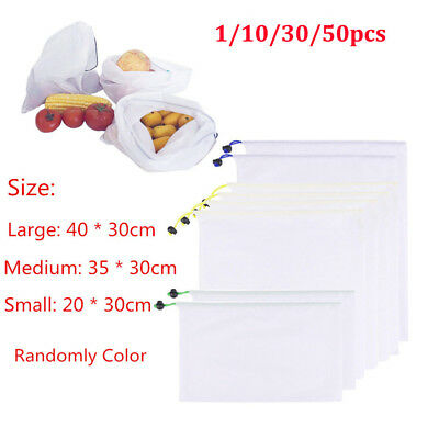 Eco Friendly Reusable Mesh Produce Bags Superior Double-Stitched Strength GN
