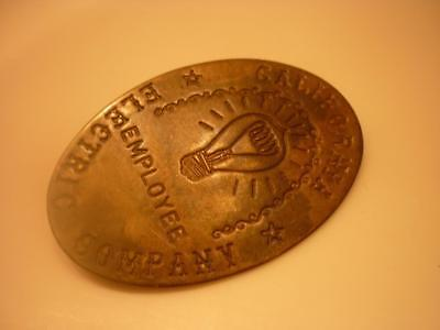 Brass California Electric Company Employee Badge