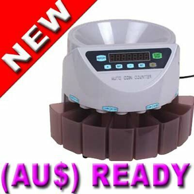 New 3 MODES LED COIN COUNTER AUSTRALIAN SORTER AUTOMATIC MONEY COUNTING MACHINE