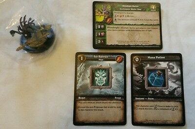 World of Warcraft Miniature Game, Blindlight Murloc figure,Core-C and cards,WoW