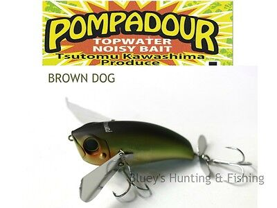 Jackall pompadour floating topwater noisy bait lures; New Brown Dog