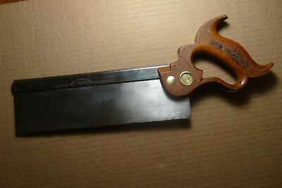 ANTIQUE DISSTON No 4 DOVETAIL 10 inch BLUE BACK BACKSAW 15 POINT 1876-1887