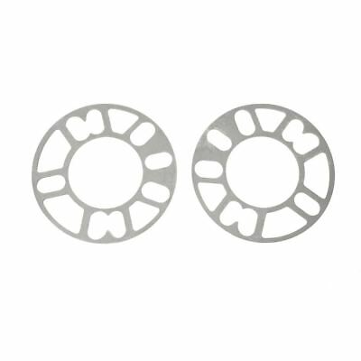 2PCS Aluminum Alloy 4 and 5 Lug 5mm Wheel Spacer Gasket for Auto S4I3 B4U8