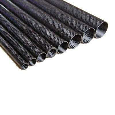 1-4pcs 6MM OD x 4MM ID Carbon Fiber Tube 3k 500MM (Roll Wrapped) carbon pipe 6*4