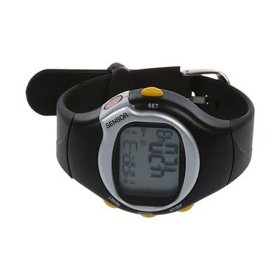 Sport Pulse Heart Rate Monitor Calories Counter Fitness Wrist Watch Black N H3W2