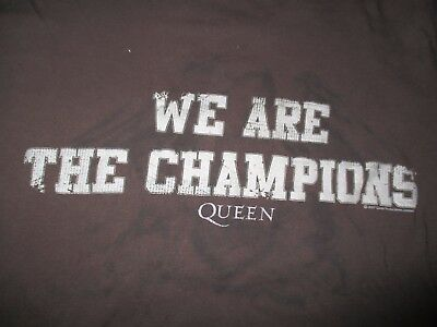 """2007 QUEEN """"We are the CHAMPIONS"""" (XL) T-Shirt BROWN"""
