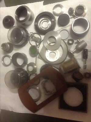 vintage camera lens mounting plates and parts 20 plus