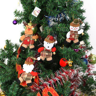Claus Snowman Reindeer Doll Christmas Decoration Xmas Tree Hanging Ornaments GS
