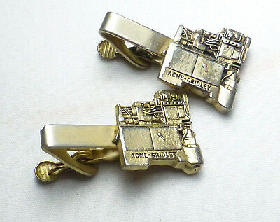 2 Vintage ACME GRIDLEY Mercury Industries Screw Spindle Manufacturing Tie Clip