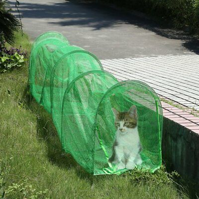 Cat Tunnel Run Pet Play Exercise Deluxe Outdoor Foldable Portable Enclosure AU