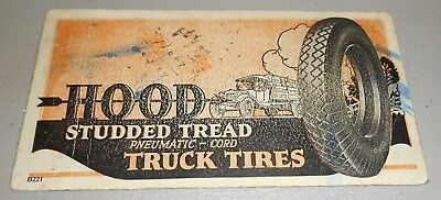 Used Hood Studded Tread Pneumatic-Cord Truck Tires Ink Blotter