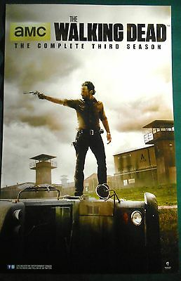 The Walking Dead Season 3 TV Show Poster Fan Expo Comic Con Horror Zombie