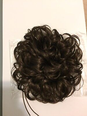 Irish Dance Bun Wig Brown Soft Curls