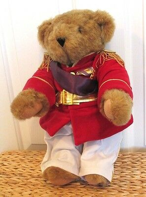 """Vermont Teddy Bear co. Fully Jointed Soldier Purple Heart 16"""""""
