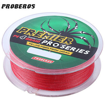 PROBEROS 100M 5Colors Braided Wire PE Monofilament Fishing Line Strong 4 Strands