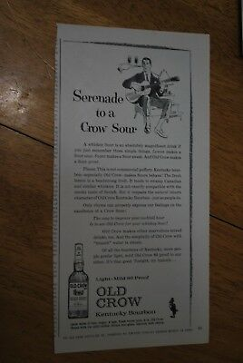 Old Crow 1963 Playboy Magazine ad - Very Good+