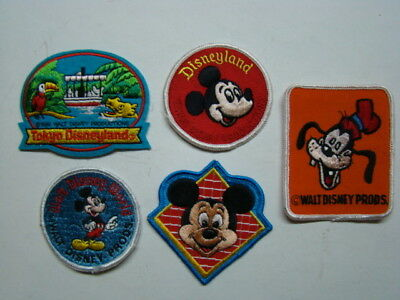 (5) Tokyo Walt Disney World Disneyland Cloth Patches 1983