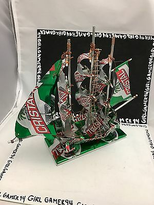 Cerveza Cristal Mexico Beer Can Souvenir Ship/Sailboat - Made Out Of Beer Cans!