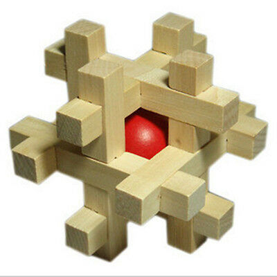 Fashion Adult Puzzle Toy SnakeCube Wooden Brain Teaser Take Out the RedBall Fad.