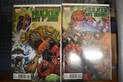 Hulked Out Heroes #1 & 2 Marvel Comics Limited Series Spider-Man Deadpool Thing