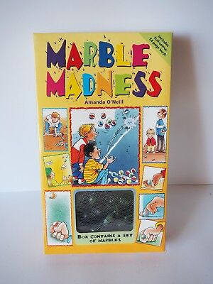 """""""Marble Madness"""" - Box Containing a set of marbles w/ 64 Page Book! Brand New!"""