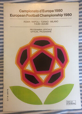 Euro Italia 1980 Official Tournament Programme