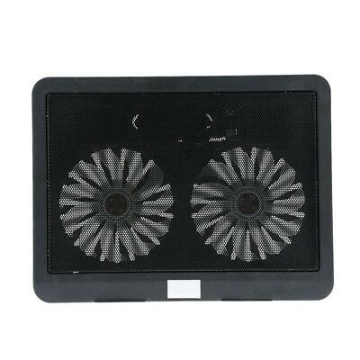2 fans silence thin computer cooling frame USB Cooler Radiator Notebook Fan P3R9